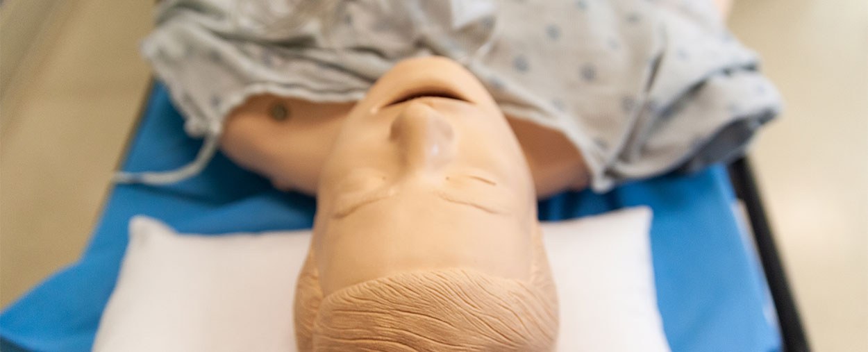 Mannequin used for simulation training at the medical campus.