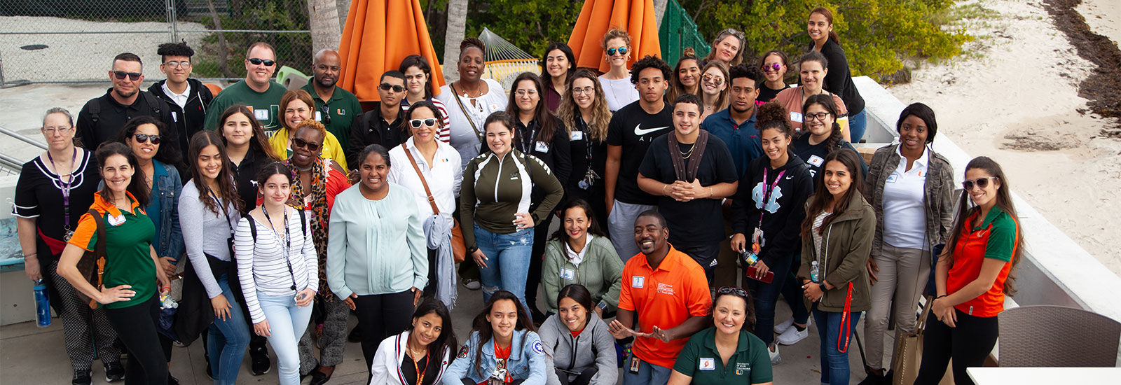 Participants in Big Brothers Big Sisters School to Work program at UM's marine campus.